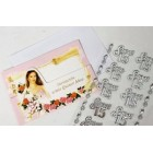12 Invitacion a Mis Quince Anos with Silver 15 Sticker Charms Embellishment Numbers