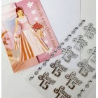 12 Invitacion a Mis Quince Anos with Silver 15 Sticker Charms Embellishment Numbers Party Supplies