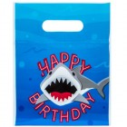 Shark Party Treat Bags Birthday Favor Party Supplies Kids Plastic Bags 24 Ct