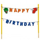 Dinosaur Happy Birthday Cake Banner Party Decoration Special Events