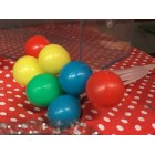 12 Multicolored Bunches of Balloons Party Favor Cake or Cupcake Decorations