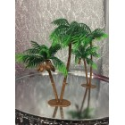 8 Luau Themed Palm Trees Party Favor Cupcake & Cake Decorations