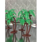 13 Luau Themed Palm Trees Party Favor Cupcake & Cake Decorations