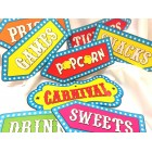 Carnival Circus Sign Cutout Decorations 8 Count