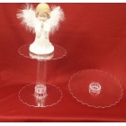 "10"" Tier Clear Plastic Acrylic Cupcakes Stand"