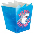 Shark Party Favor Boxes Birthday Party Supplies Kids Party 12 Boxes