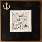 Black and White Guest Book Sign Book Boat Anchor Nautical Theme All Occasion Birthday Wedding