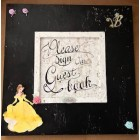 Black and White Disney Character Guest Book Sign Book Keepsake Idea