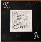 Black and White Guest Book Sign with Rhinestone Letter Initials