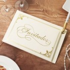 Invitados Ivory Guest Book w/ Pen