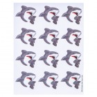 Shark Party Envelope Seals Birthday Favor Party Supplies Kids Party 36 Seals