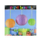 Monster Party Paper Lanterns Birthday Decoration