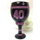 40th Birthday or Anniversary Wine Glass