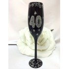 40th Birthday or Anniversary Champagne Glass Flute