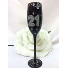 21st Birthday or Anniversary Wine Glass Flute