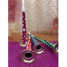 Assorted Blow Horns New Years Eve Party Accessories 4 Ct