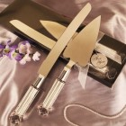 Wedding Gold Handle Cake Knife and Server Set for All Occassions