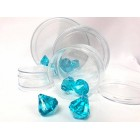12 Clear Plastic Round Candy Favor Boxes with Cover Party Supplies 2.75 Inch