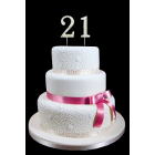 Large Gold Number 21 Rhinestone Cake Topper Decoration