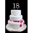 "18th Birthday Wedding Anniversary Number Cake Topper with Sparkling Rhinestone Crystals - 1.75"" Tall"