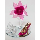 Acrylic Flower with High Heel Shoe Favor and Purse Gift Keepsake Choose Color