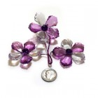 Acrylic Crystal Flower Decoration-Purple