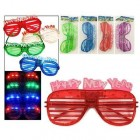 Light Up New Years Eve Party Glasses Glowing LED Shades Pack of 6