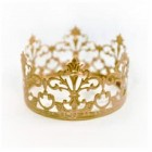 "Crown for a Queen Princess Prince Gold Crown Cake Topper Decoration For Birthday Sweet 16 Weddings 2.25"" H x 4"" W"