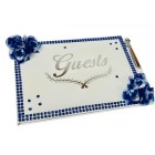 All Occasion Birthday, Wedding Special Events Guest Book with Flower Design Keepsake Gift