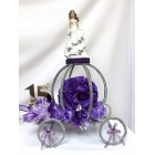 Sweet 16 or Sweet 15 Mis Quince Años Wire Carriage Table Party Centerpiece