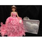 Sweet 15 Fifteen Mis Quince Anos Doll with Tiara and Pillow