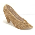 Princess Gold Rhinestone Shoe Birthday Cake Decoration Centerpiece