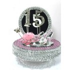 Sweet 15 Mis Quince Cake Topper or Centerpiece Keepsake