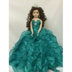 Mis Quince Anos Birthday Centerpiece Doll Turquoise