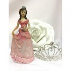 "Sweet 16 Birthday Mis Quince Anos Cake Top Figurine Decoration Pink 8"" H"