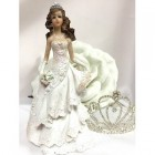 "Sweet 16 Mis Quince Anos 15 Birthday Cake Top Figurine Decoration White 8"" H"