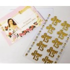 12 Invitacion a Mis Quince Anos with Gold 15 Sticker Charms Embellishment Numbers Party Supplies