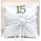 Mis Quince Sweet 15 Tiara Pillow with Rhinestone Number