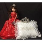 Sweet 15 Fifteen Mis Quince Anos Doll with Tiara and Pillow Quinceanera