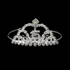 Sweet 15 Quinceanera Mis Quince Anos Silver Crystal Rhinestone Tiara