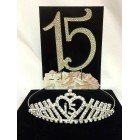 Rhinestone Mis Quince Tiara and Cake Topper Number