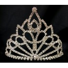 Silver Rhinestones Pointed Shaped Tiara