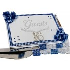 Sweet 16 Birthday Rhinestone Number Guest Book, Cake Knife & Server Set Gift Keepsake
