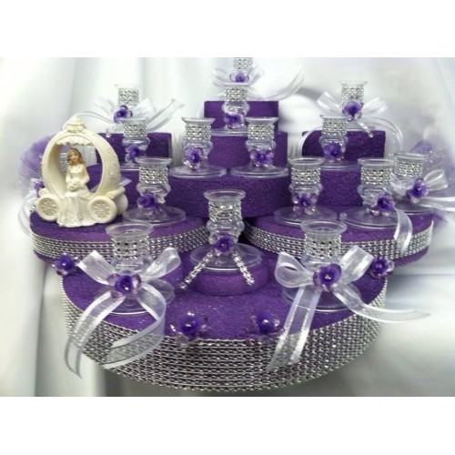 Sweet 15 Candle Holder Centerpiece Cake Decoration Ct