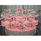 Sweet 16 Figurine Centerpiece with Candle Pink Holders Table or Cake Decoration