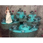 Sweet 16 Figurine Centerpiece with Candle Holders Table or Cake Decoration