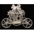 Cinderella Princess Coach Sweet 16 Carriage Fairy Tale Centerpiece Decoration