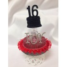 Sweet 16 Cake Number Centerpiece with Rhinestone Initials