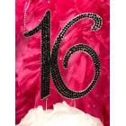 Black Rhinestone Number 16 Birthday Cake Topper Centerpiece