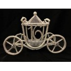 Silver Cinderella Coach Sweet 16 Carriage Fairy Tale Centerpiece Decoration